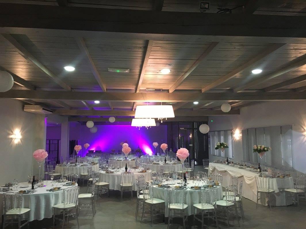 salle de réception pour un flm de mariage